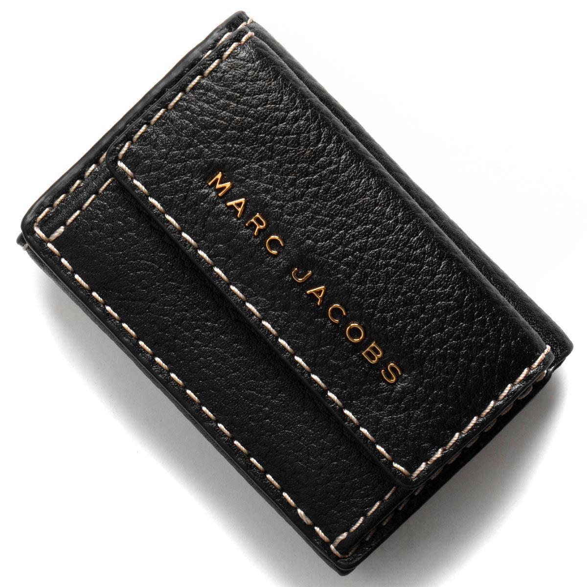 マークジェイコブス 三つ折り財布/ミニ財布 財布 レディース ザ グラインド ブラック M0014702 001 2019年春夏新作 MARC JACOBS