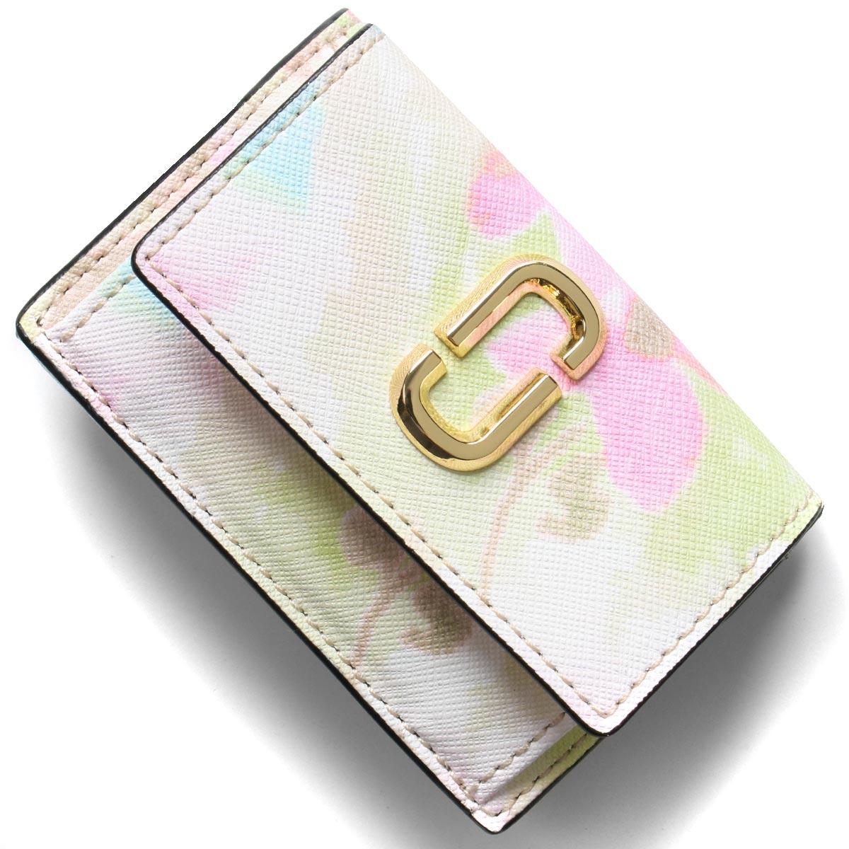 マークジェイコブス 三つ折り財布/ミニ財布 財布 レディース スナップショット ダブルJロゴ ピンクマルチ M0016175 651 MARC JACOBS
