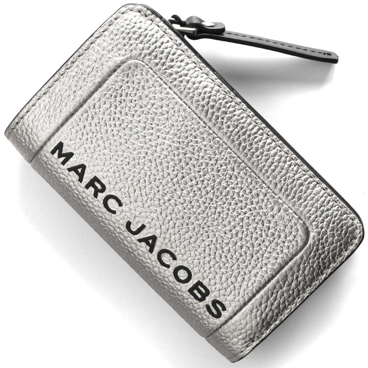 マークジェイコブス 二つ折り財布 財布 レディース ザ テクスチャード ボックス プラチナシルバー M0016185 045 MARC JACOBS