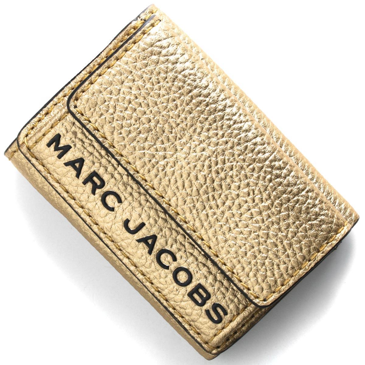 マークジェイコブス 三つ折り財布/ミニ財布 財布 レディース ザ テクスチャード ボックス ゴールド M0016187 710 MARC JACOBS