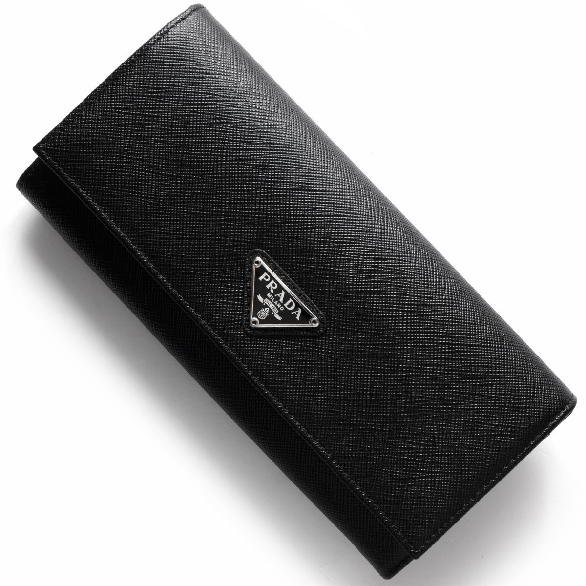 プラダ 長財布 財布 メンズ レディース SAFFIANO TRIANG ブラック 1MH132 QHH F0632 PRADA