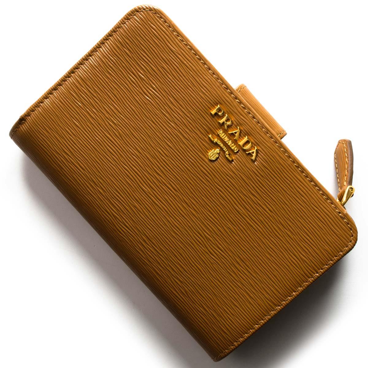 プラダ 二つ折り財布 財布 レディース ヴィッテロ ムーヴ キャラメルブラウン 1ML225 2EZZ F098L PRADA