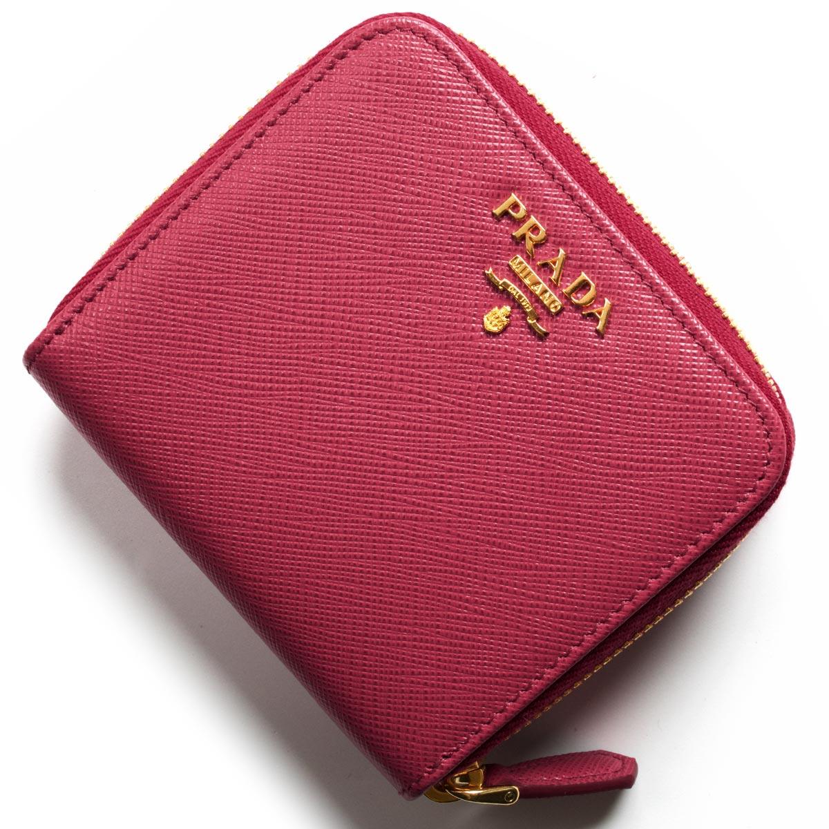 プラダ 二つ折り財布 財布 レディース サフィアーノ メタル ペオニアピンク 1ML522 QWA F0505 PRADA