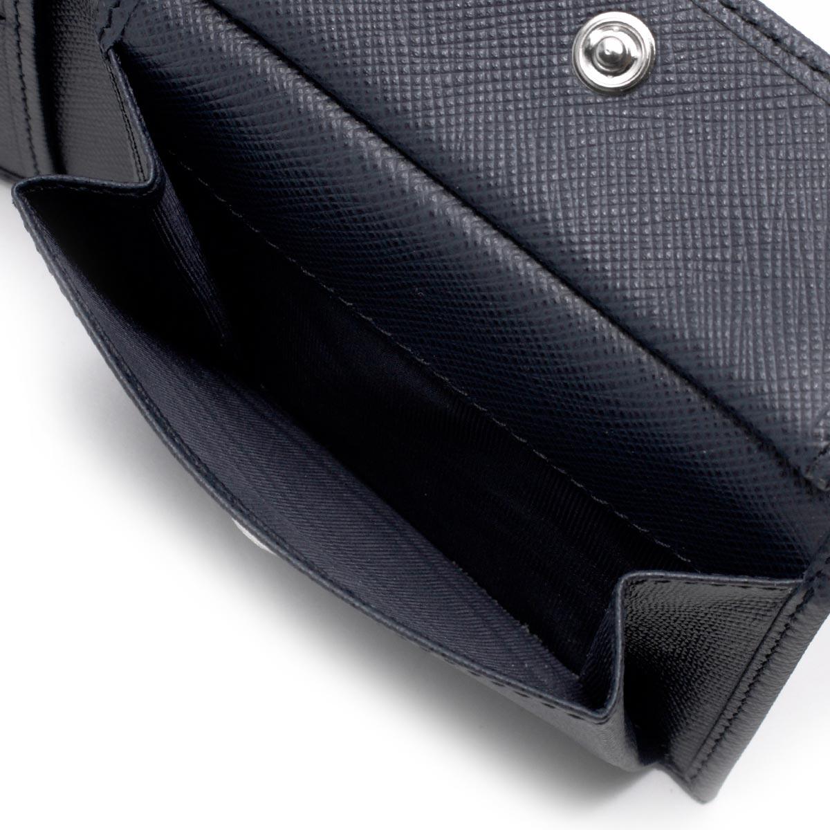 e803b9992ff9 ... プラダ 二つ折り財布 財布 メンズ サフィアーノ トライアングル SAFFIANO TRIANG 三角ロゴプレート バルティコブルー  2MO738 QHH F0216 PRADA
