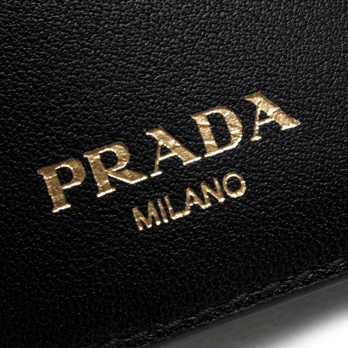 プラダ 三つ折り財布/ミニ財布 財布 レディース ヴィッテロ ムーヴ ブラック 1MH021 2EZZ F0002 PRADA
