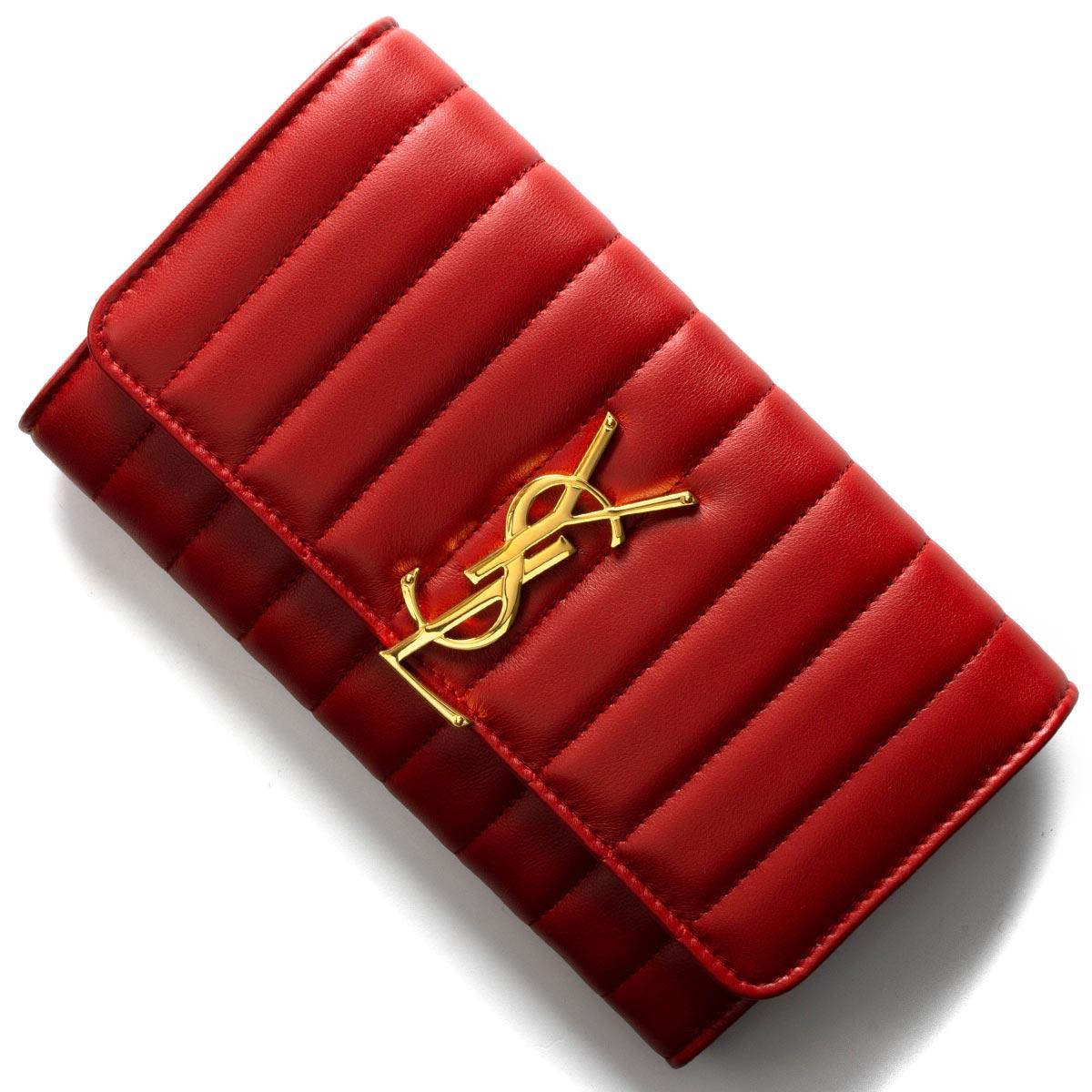 premium selection 860e3 346ab サンローランパリ イヴサンローラン 長財布 財布 レディース ヴィキ YSL ルージュエロスレッド 539972 0YD01 6805 SAINT  LAURENT PARIS|ブランドショップ ブルーク