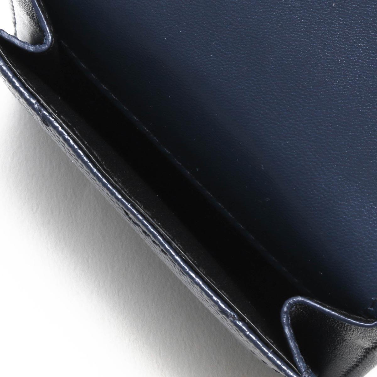 サンローランパリ イヴサンローラン 三つ折り財布/ミニ財布 財布 レディース モノグラム YSL デニムブリュットブルー 505118 BOWA1 4117 SAINT LAURENT PARIS