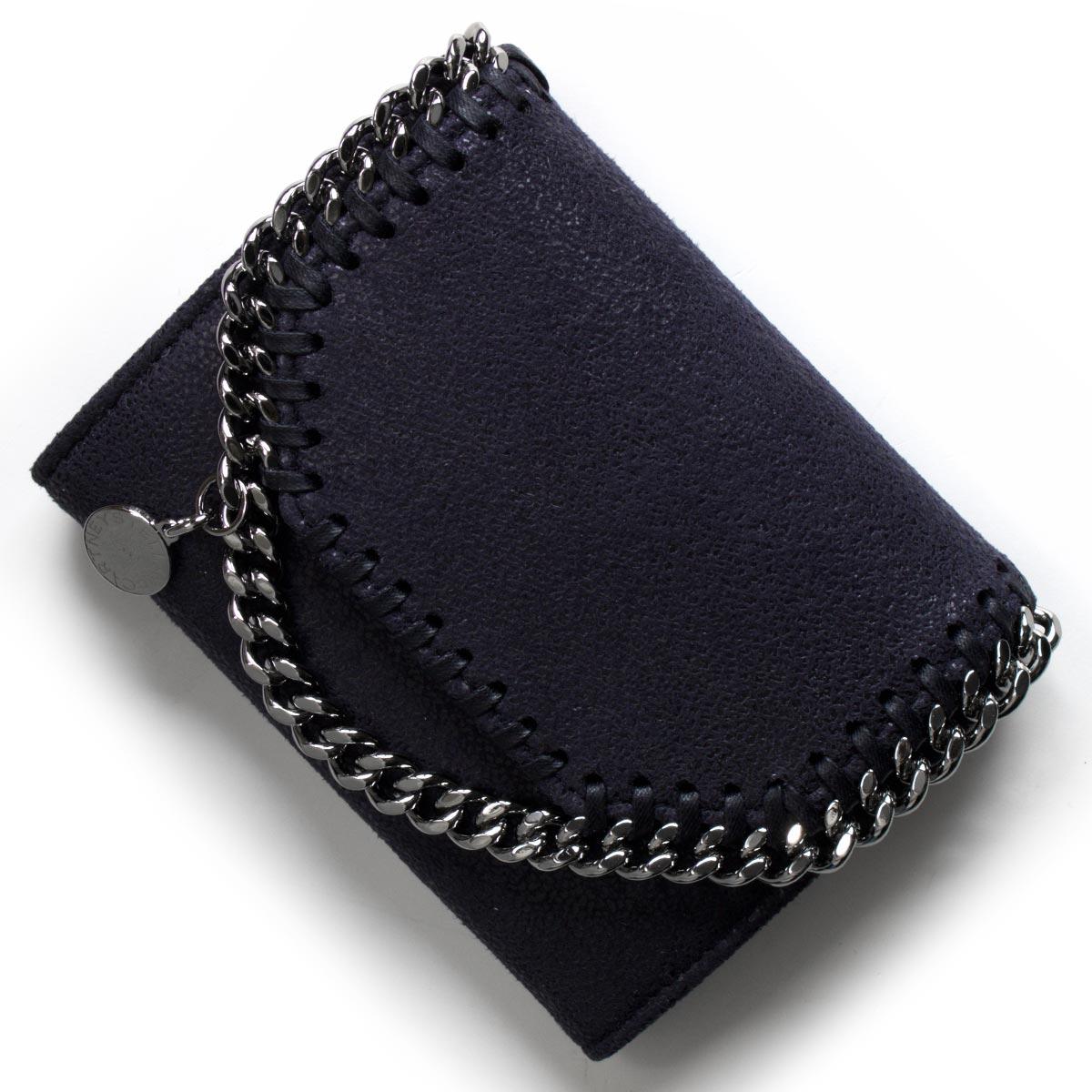 ステラマッカートニー 二つ折り財布 財布 レディース ファラベラ シャギー スモール ネイビー 391836 W9132 4061 STELLA McCARTHNEY