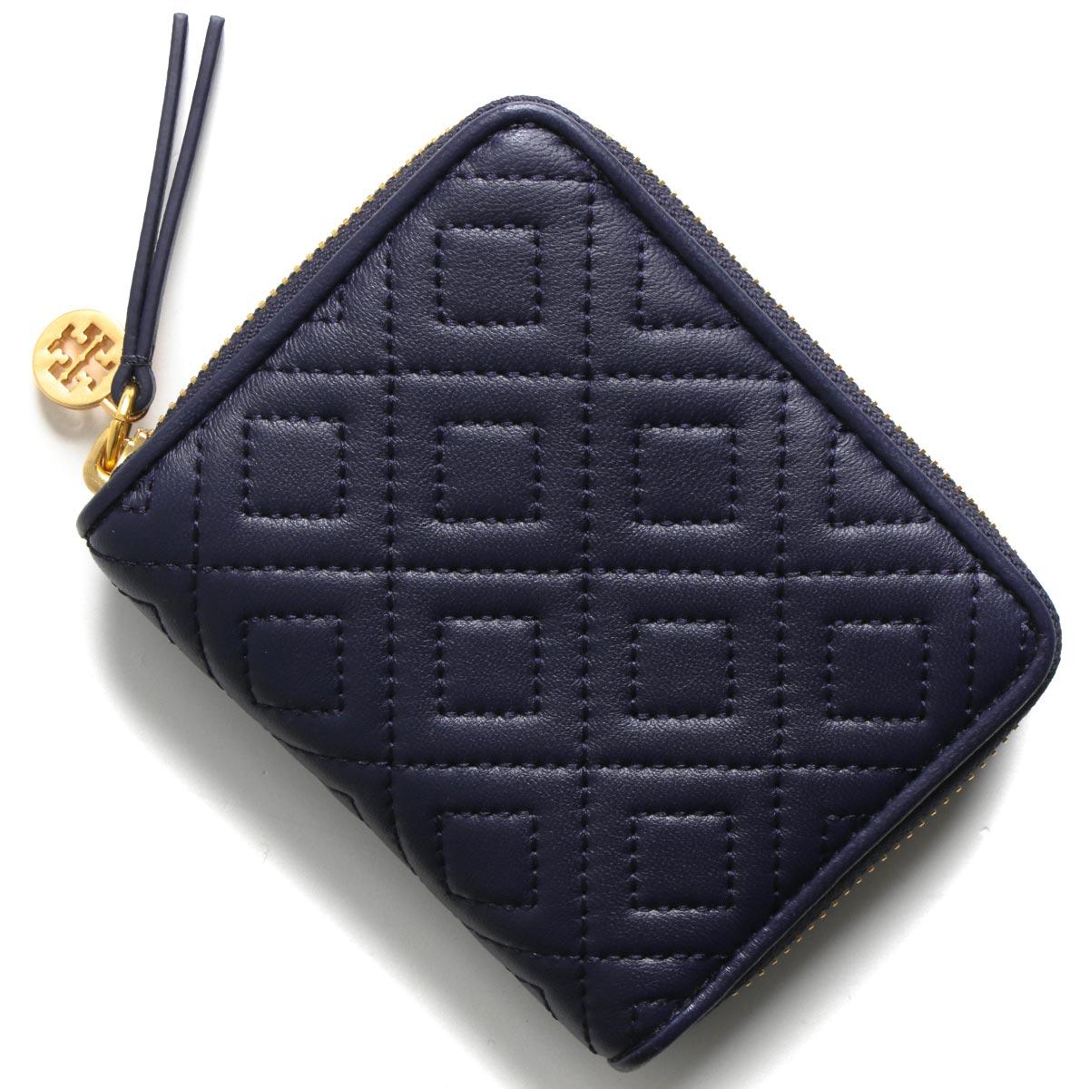 トリーバーチ 二つ折り財布 財布 レディース フレミング ミディアム キルティング ロイヤルネイビー 43558 403 TORY BURCH