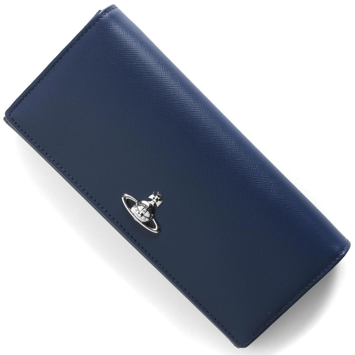 ヴィヴィアンウエストウッド 長財布 財布 メンズ レディース ピムリコ オーブ ブルー 51120005 40187 K402 VIVIENNE WESTWOOD
