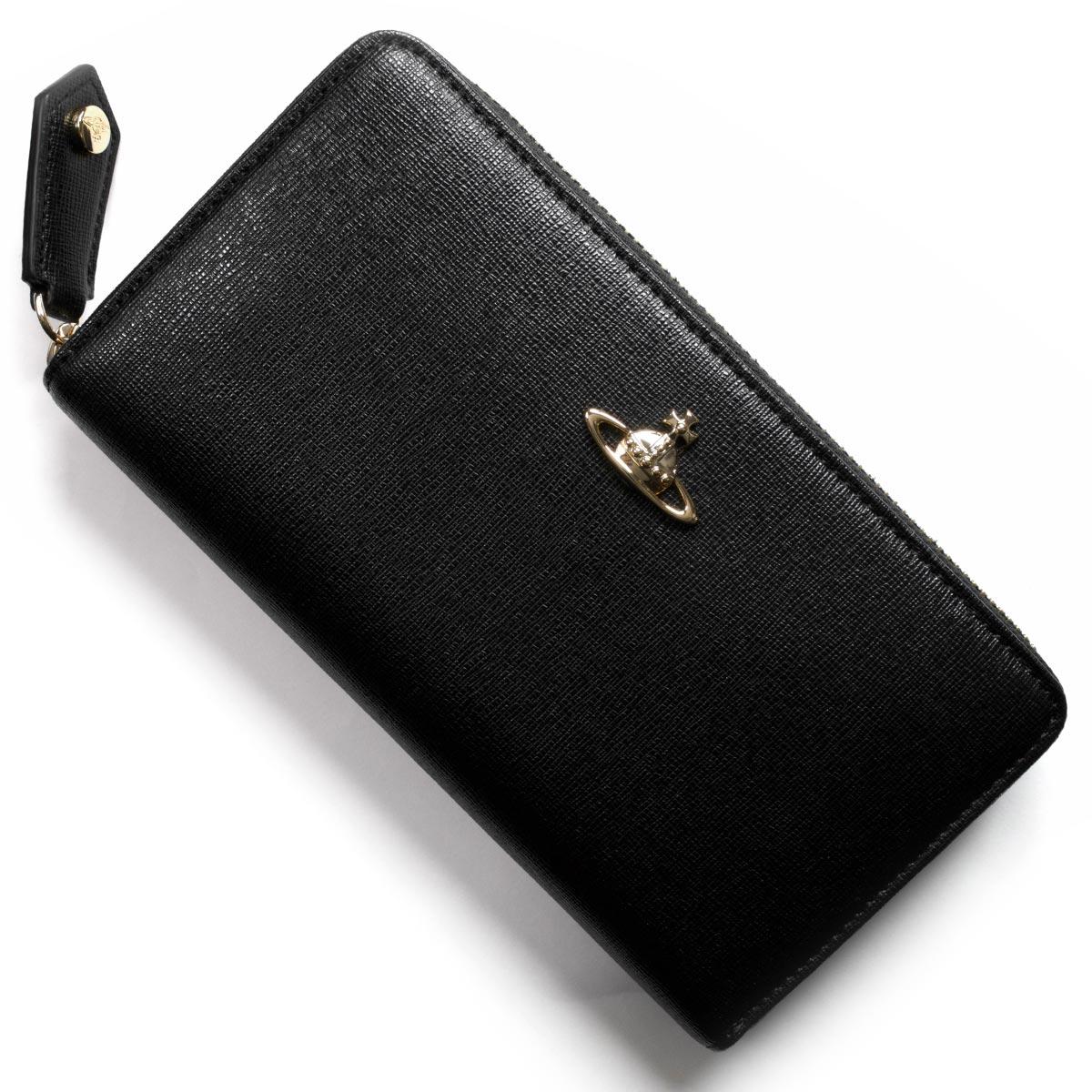 ヴィヴィアンウエストウッド 長財布 財布 レディース サフィアーノ SAFFIANO ブラック 5105000140153 BLK VIVIENNE WESTWOOD