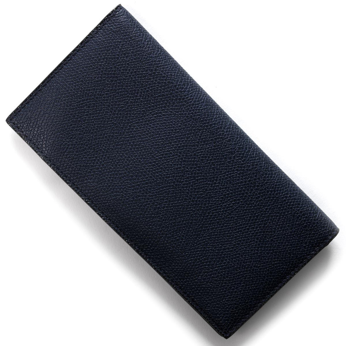 ヴァレクストラ 長財布【札入れ】 財布 メンズ レディース ネイビー V8L21 028 OU VALEXTRA