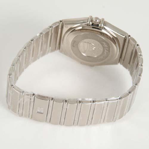 1105.36 オメガコンステレーション WG pure gold diamond chronometer automatic silver men