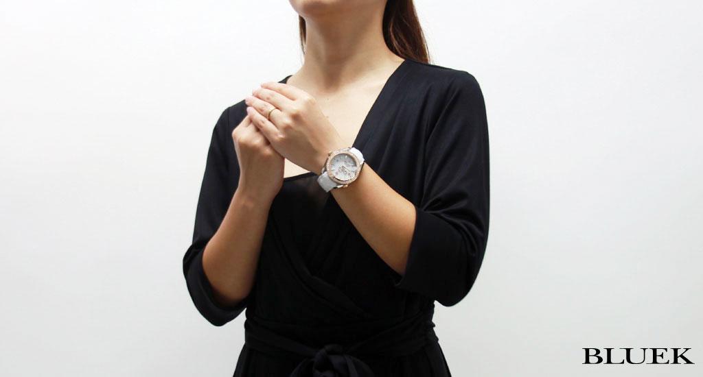 オメガシーマスタープラネットオーシャンダイヤベゼルコーアクシャル 600m waterproofing leather RG white 222.28.42.20.04.001