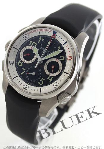 ジラールペルゴ R & D 01 automatic chronograph rubber carbon black men 49930-21-013YFK6A watch clock