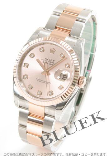 Rolex ROLEX date just diamond pure gold men Ref.116231G
