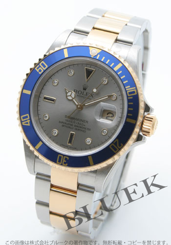 Rolex Rolex Submariner men's Ref.16613SG watch clock