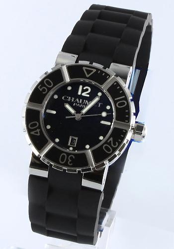 ショーメクラスワンラバーブラックレディース W17221-33B watch clock