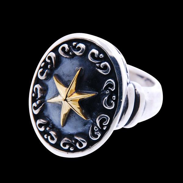 シルバーリング メンズ 刻印可能 グラスプスターリング 星モチーフ シルバー925 真鍮 指輪 メンズアクセサリー clouds / Blula【送料無料】【コンビニ受取対応商品】【10P05Nov16】