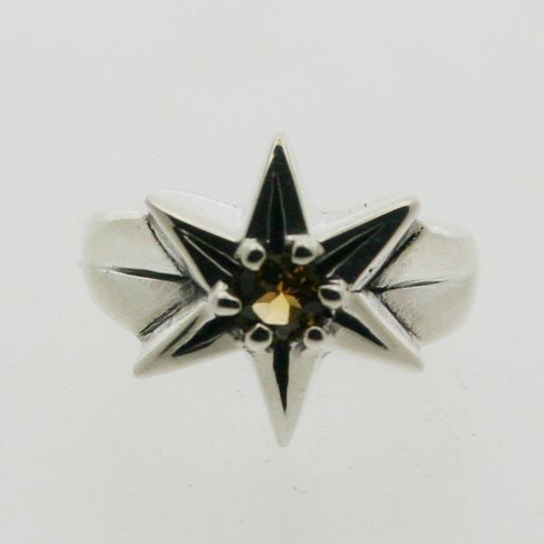 【ピンキーリング】星のピンキー 11月 誕生石 シトリン シルバー925 指輪 STAR スター【1号 2号~】【送料無料】【コンビニ受取対応商品】