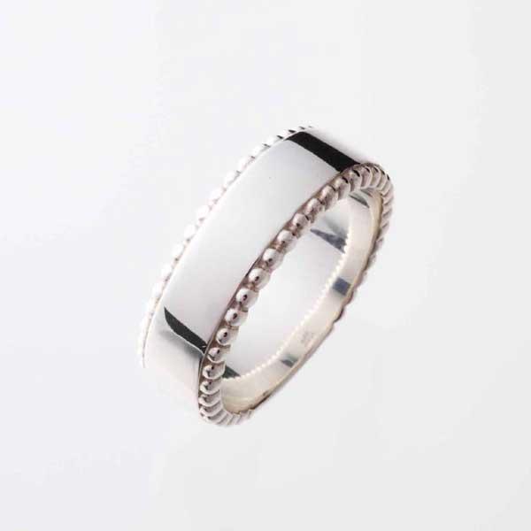 【シルバーリング】シンプル ドットリング(太) メンズ 指輪/silver925 【コンビニ受取対応商品】