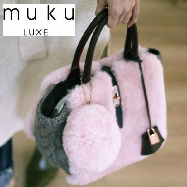 muku ムク LUXE 752 発売モデル リアルムートン ニット トート バッグ トートバッグ ムートン 送料無料 驚きの値段で Sサイズ No.752 ムクLES あす楽 PETITS