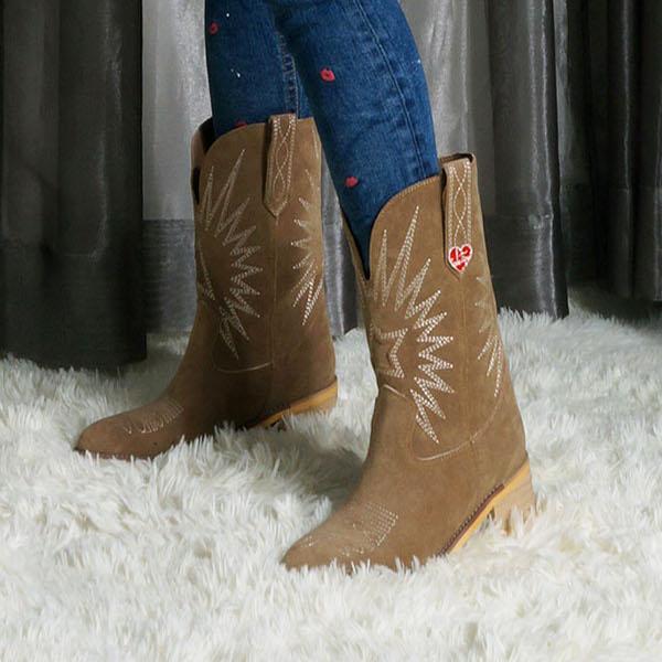 COOLA クーラ レディース 靴 ブーツ 【エントリーポイント5倍!】【即納】COOLA クーラEco Suede Western Boots エコスウェードウェスタンブーツ CQ39508【2021AW新作】【あす楽】≪9月7日入荷≫