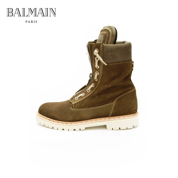 KHAKI SUEDE COMBAT ARMY BOOTS