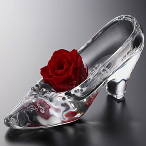 ガラスの靴(ローズ)結婚式 ウェディング 結婚 ブライダル  演出 記念品 ギフト プレゼント 贈り物 彫刻 刻印