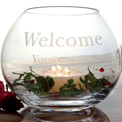 キャンドル ボール アーバンウェディング パーティー 名入れ 祝い 送料無料 結婚式 ブライダル 記念品 ギフト プレゼント 贈り物 彫刻 ウェルカムボード
