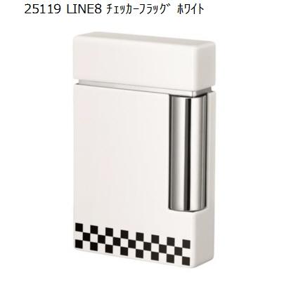 【S.T. Dupont】 LINE8 チェッカーフラッグ ホワイト 25119【546】【ラッキーシール対応】