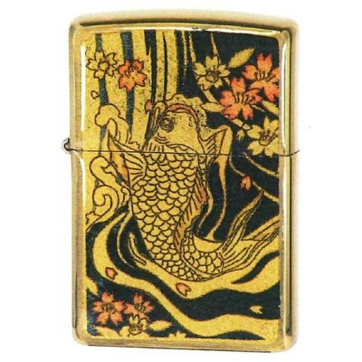 【Zippoライター】金箔 エポキシ 鯉 キンパク エポ コイ【546】【ラッキーシール対応】