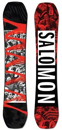【スノーボード】SALOMON(サロモン)HUCK KNIFE RED SPRAY【350】【ラッキーシール対応】