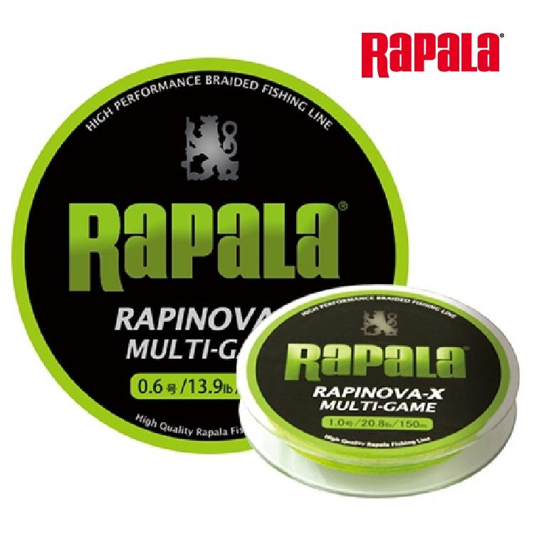 ド定番のライムグリーン圧倒的なロングラン 釣り RAPALA RAPINOVA-X 日本産 150M オーバーのアイテム取扱☆ MULTI-GAME 510 0.3号