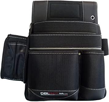 軽くて丈夫で型くずれがしにくく使いやすい 工具収納用品 DBLTACT ダブルタクト 腰袋 釘袋 DT-19-BK 最安値に挑戦 新作続 178