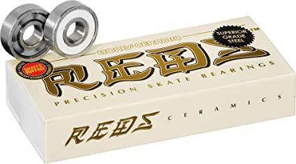 メール便対応可 定番スタイル セラミックで低価格 スケートベアリング BONES ボンズ CERAMIC SUPER 750 SKATE 高額売筋 REDS BEARING