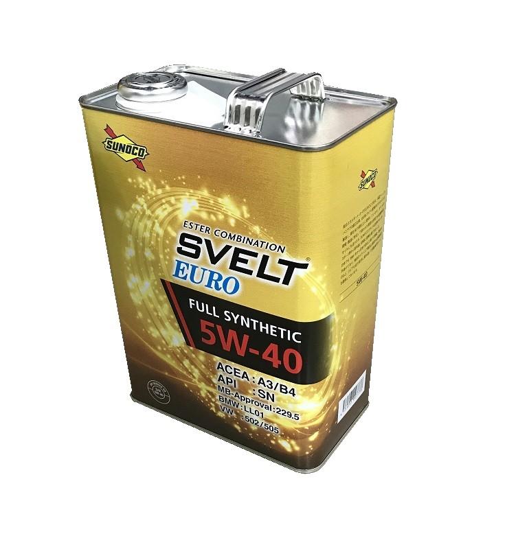【エンジンオイル】SUNOCO(スノコ) 5W-40(EURO/4L缶) 【500】【ラッキーシール対応】