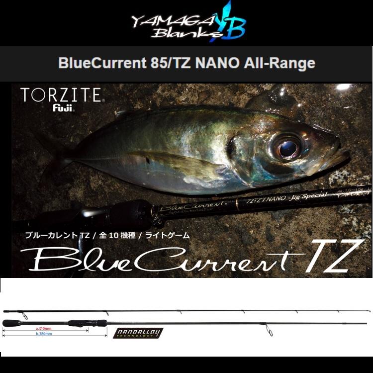 【釣り ロッド】YAMAGA BLANKS YB BlueCurrent 85/TZ NANO All-Range【510】