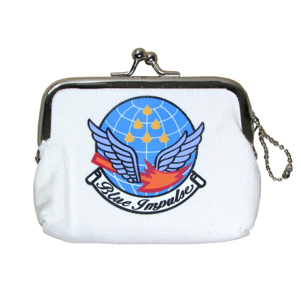 航空自衛隊 空自 爆安プライス 公式サイト ブルーインパルス ミニがま口 エンブレムマーク柄 自衛隊グッズ