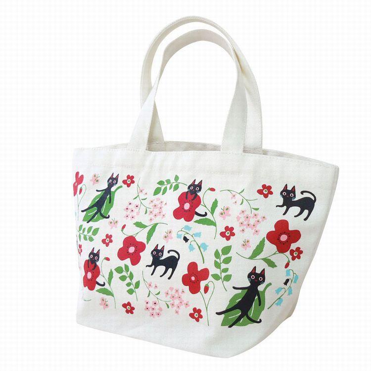 人気の猫柄 NEKOにゃーご 春の新作 トートバッグ 花 ネコ 特別セール品 送料無料 ねこ 猫