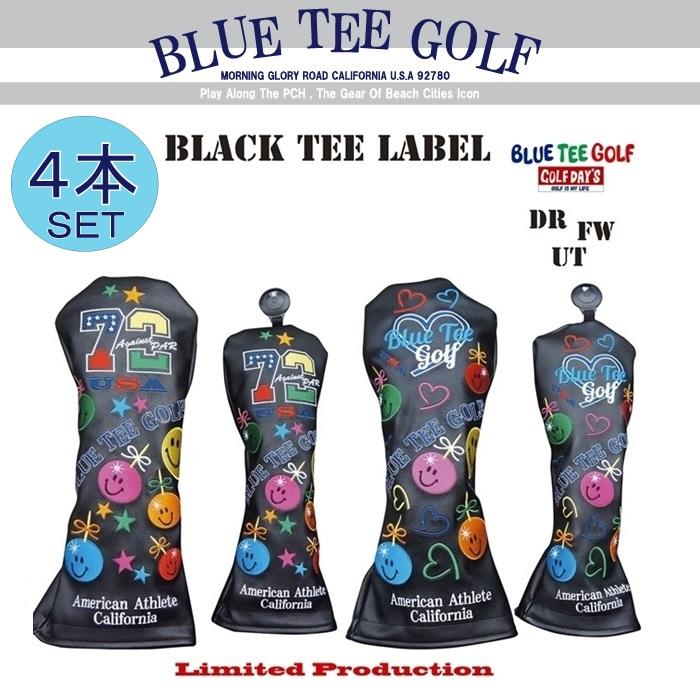 ☆ブルーティーゴルフ BLUE TEE GOLF California 【アゲインスト パー72&ラブ ゴルフ】ヘッドカバー4本セット販売Limited Production BLACK TEE LABEL【カラー:ブラック】