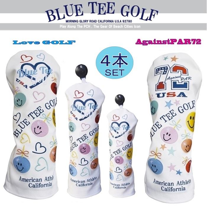 ☆ブルーティーゴルフ BLUE TEE GOLF California 【アゲインスト パー72&ラブ ゴルフ】4本セット販売Limited Production BLACK TEE LABEL