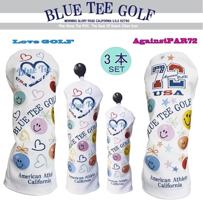 ☆ブルーティーゴルフ BLUE TEE GOLF California 【アゲインスト パー72&ラブ ゴルフ】3本セット販売Limited Production BLACK TEE LABEL