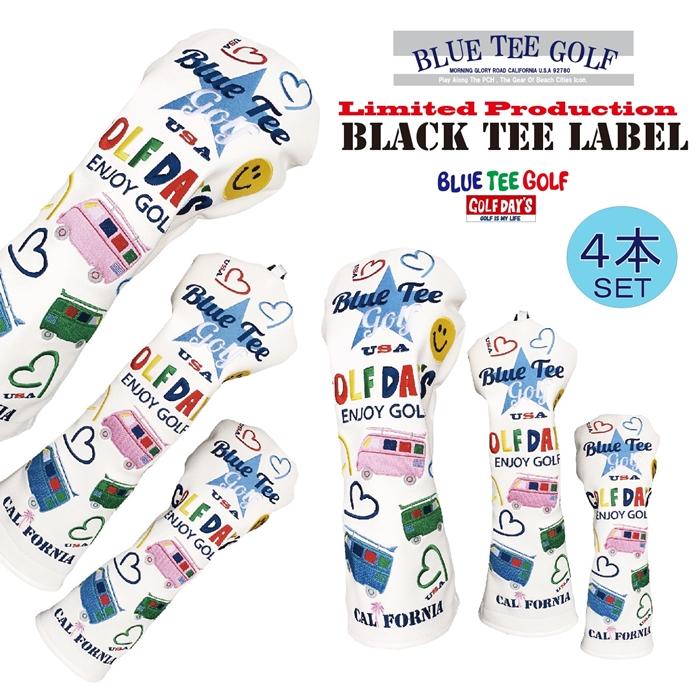 ☆ブルーティーゴルフ BLUE TEE GOLF California 【ワーゲンバス モデル】4本セット販売 キャットハンド ヘッドカバーLimited Production BLACK TEE LABEL