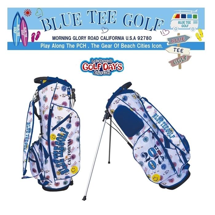 ☆ブルーティーゴルフ BLUE TEE GOLF California スタンドバッグBTGロゴプリント柄