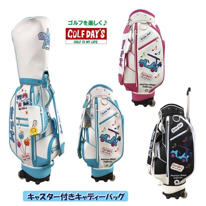 【女性用】ブルーティーゴルフ BLUE TEE GOLF California キャスター付き キャディーバッグ 【Tokyo 新橋店】