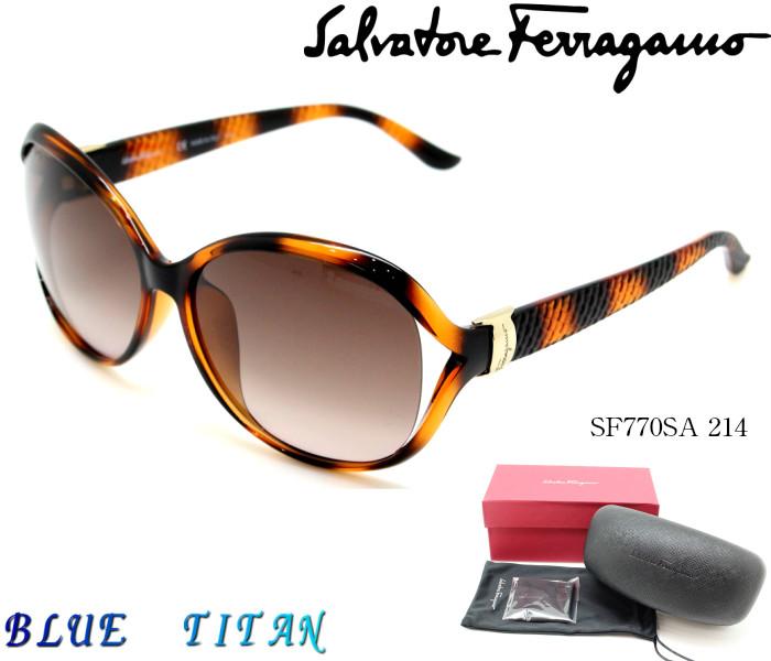 Salvatore Ferragamo サルヴァトーレフェラガモ サングラスSF770SA 214 トータス