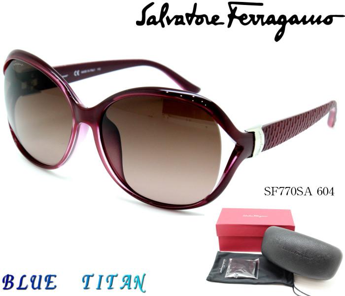 Salvatore Ferragamo サルヴァトーレフェラガモ サングラスSF770SA 604 パープル