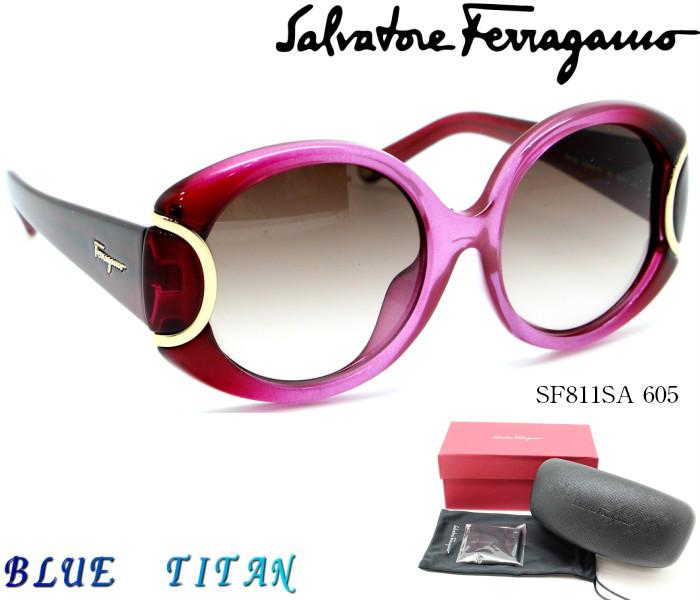 Salvatore Ferragamo サルヴァトーレフェラガモ サングラスSF811SA signature 605 Burgundy