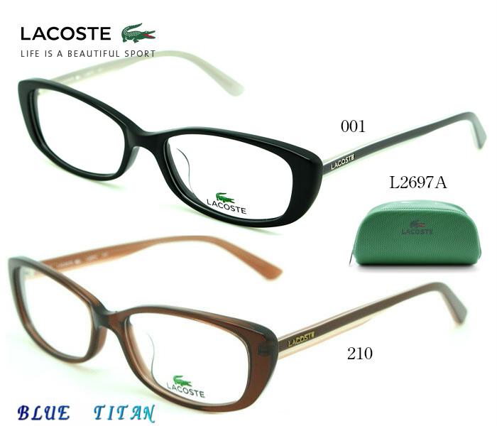 【ブルーライトカットレンズつき】LACOSTE ラコステ メガネフレーム LACOSTE L2697A アジアンフィットモデル